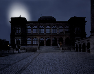 Gunda Foerster, LIGHTNING, spotlights, Neues Museum Weimar | permanent piece since 1999_5