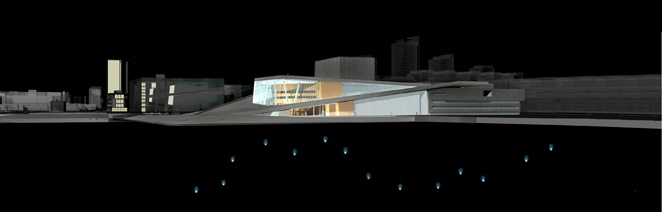 Gunda Foerster, LIGHT IMPULSE, New Opera House – Water Project, Oslo | concept, 2007_8