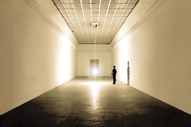 Gunda Forster, PENDULUM, light bulb, 7 pieces in 7 rooms, Kunstverein Hannover, 2001_1