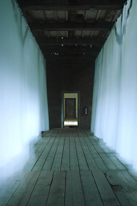 Gunda Forster, WHITE CURTAINS, Schloss Plueschow, 1996_1