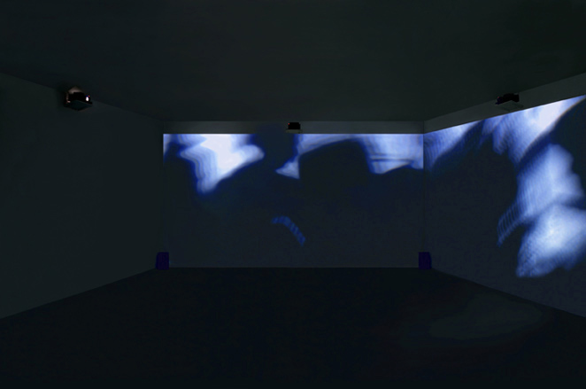 Gunda Foerster, BLACK-OUT-WHITE (Exposure), slide projection + sound, 2000_3