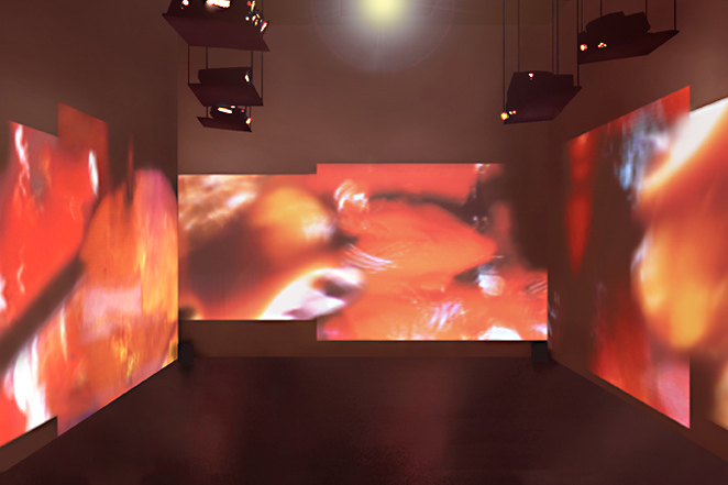 Gunda Foerster, CUT, slide projection + sound, 2000_1