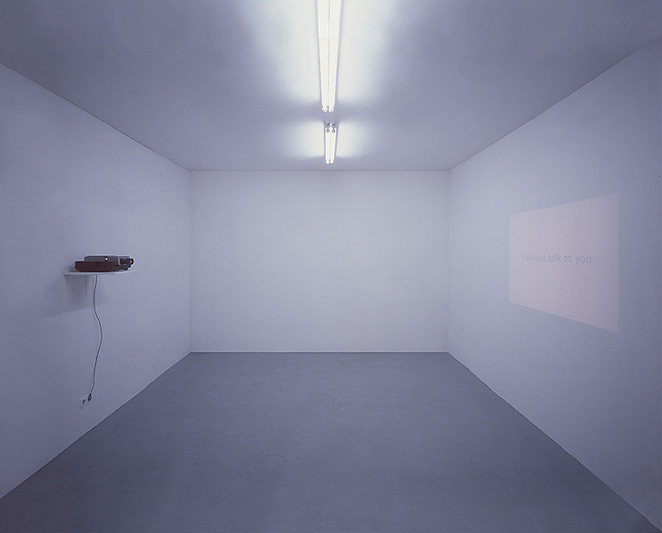 Gunda Foerster, I WANNA TALK TO YOU, Diaprojektion, 1997